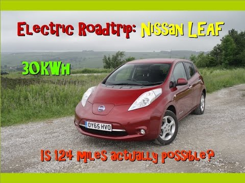 Nissan LEAF 2016 30kWh - Review and long-distance drive, UK