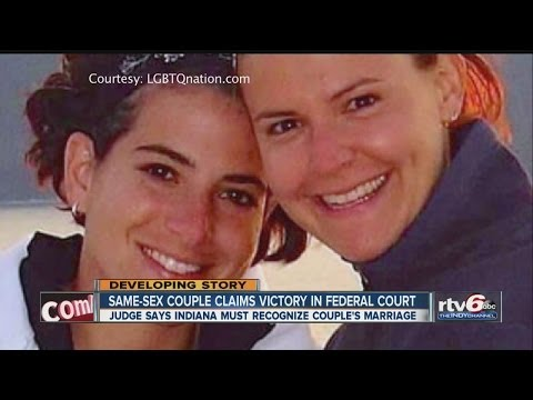 Judge: Ind. must recognize 1 gay couple's marriage
