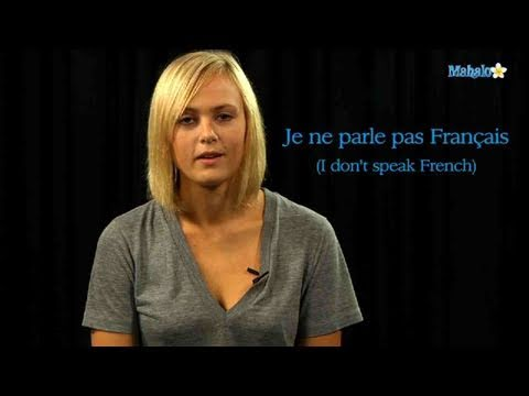 How to Say I Don't Speak French in French
