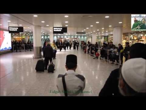 Shayukh of Eidgah Sharif Arrival at Heathrow Airport London 22/01/14
