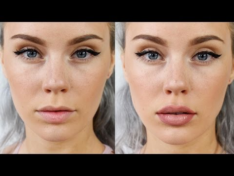 BIGGER PLUMPER LIPS using only Makeup! No Injections!