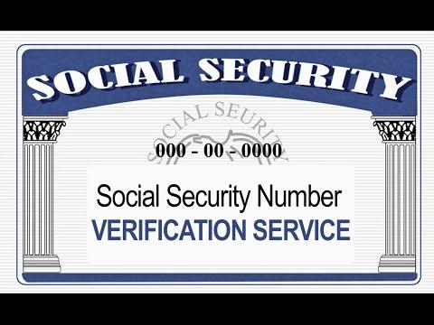 Social Security Administration Verification