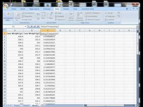 How to Construct a Cumulative Distribution Plot in Excel 2007