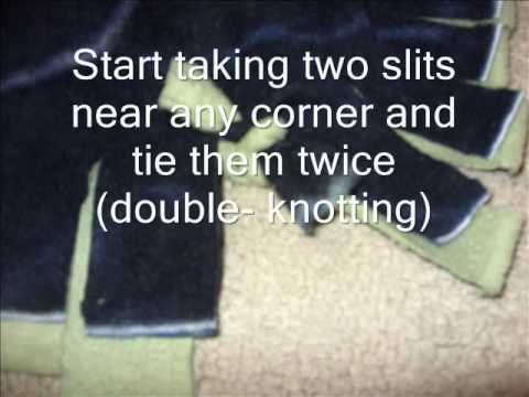 How to make a No-Sew Tie/Knotted Fleece Blanket