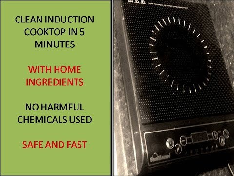 How to clean Induction Cook top| using home cleaners