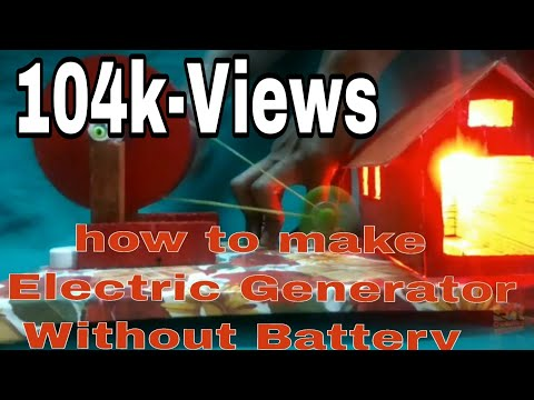How to make Electric Generator without Battery|at Home|Science Project|Science Exhibition