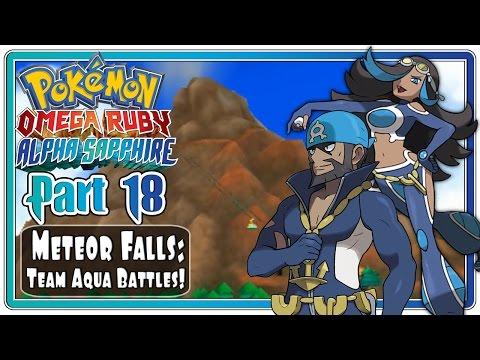 Pokemon Omega Ruby and Alpha Sapphire - Part 18: Meteor Falls | Team Aqua Battles!  (FaceCam)