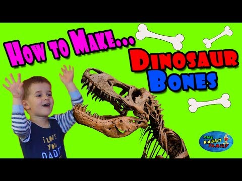 How to make Dinosaur Bones, Craft for Kids, Ethan have fun