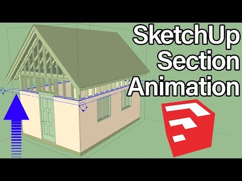 How To Animate Sections By Adding Scene in SketchUp