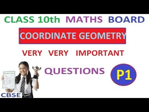 Class 10th Maths | Coordinate Geometry Important Board Questions Part 1