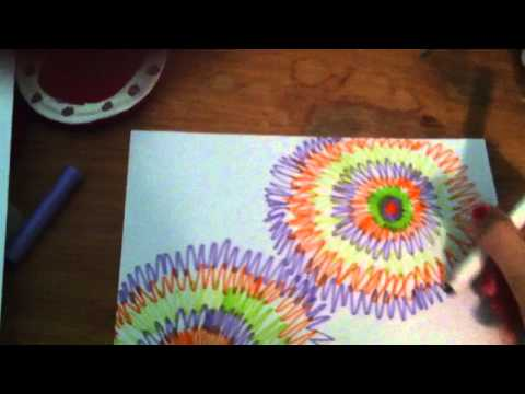 How to draw a tie dye picture