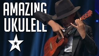 12 Year Old's Amazing Ukulele Playing On Asia's Got Talent   Got Talent Global