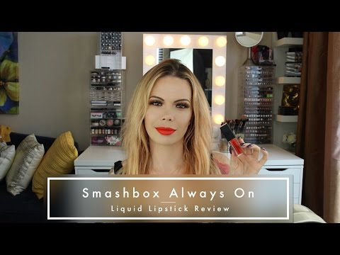 Smashbox Always On Liquid Lipstick Review w/ Check Ins (Thrill Seeker)