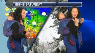 Baby Falls Asleep On Meteorologist Mom