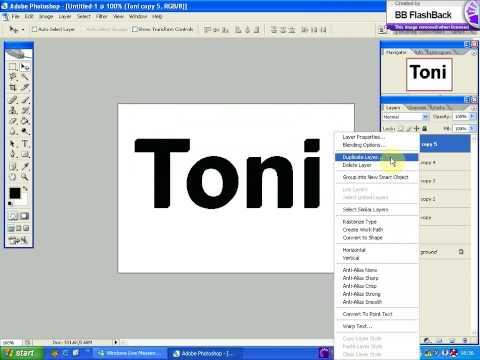 create 3D text with Photoshop CS2