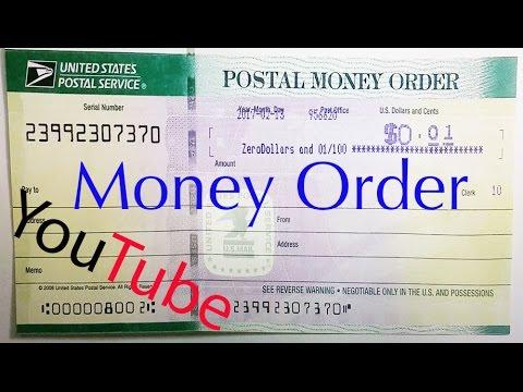 COMO LLENAR UN MONEY ORDER (Y SABER SI ES FALSO?) (USPS)