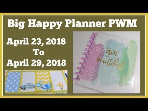 Big Happy Planner PWM 📒 April 23 - 29  2018