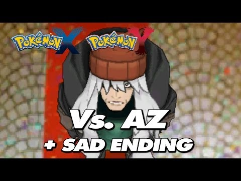 Pokemon X & Y - Final Battle Trainer AZ + Sad Ending Cutscene