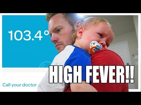 Our Baby Has A High Fever 🤒 Sick Baby
