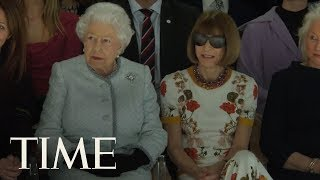 The Queen Of England Just Took Her Rightful Seat At The Front Row Of London Fashion Week | TIME
