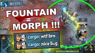 FOUNTAIN MORPHLING! - Game-Breaking 7.22c Dota 2 BUG!