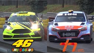 Valentino Rossi VS Thierry Neuville - Ford Fiesta WRC VS Hyundai i20 WRC at Monza Rally Show!