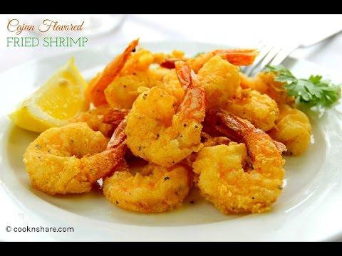 Cajun Flavored Fried Shrimp