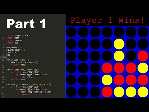 How to Program Connect 4 in Python! (part 1) -  Basic Structure & Game Loop