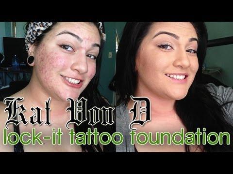 Kat Von D Lock-It Tattoo Foundation: DEMO + REVIEW ON ACNE SKIN