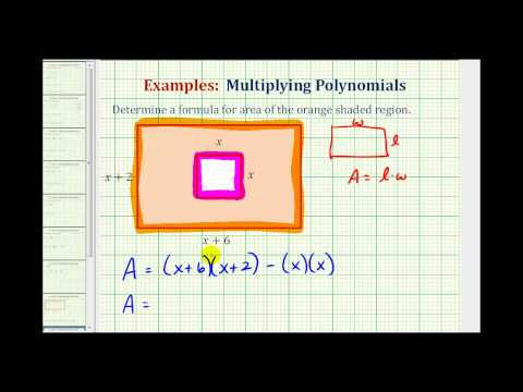 Ex:  Determine the Area of a Shaded Region Using a Polynomial