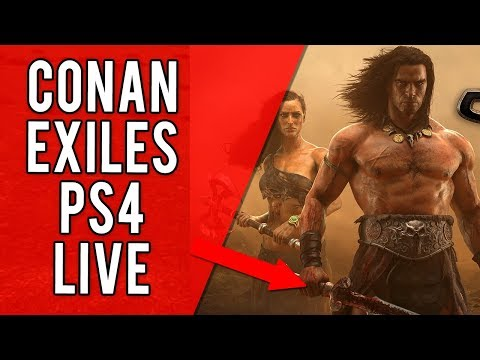 LEARNING HOW TO PLAY CONAN EXILES - PS4 PVP UK Livestream - HOW TO GET BETTER AT CONAN EXILES PVP