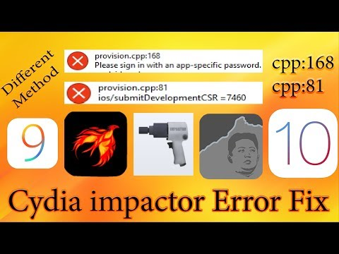 Apple  Sign in Error cpp:81 and 168 when Jailbreak and hacked apps installation using Cydia Impactor