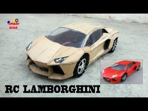 WOW! Super RC Lamborghini  || DIY || Cardboard Lamborghini Aventador || How to make Electric Toy Car