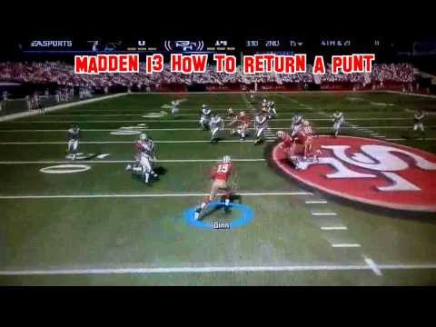 Madden 13 How To Return A Punt Special Team Tip