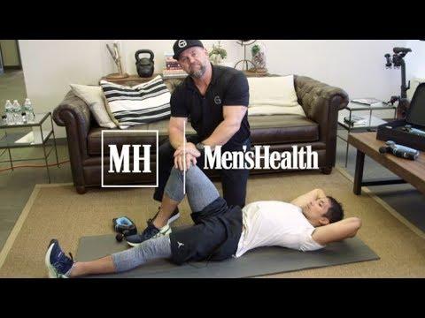 Dr. Jason shows Men's Health how to treat sore legs