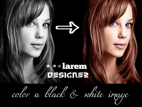 How to Color Black and White image , Photoshop CS6 tutorials