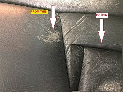 How To Repair NASTY LEATHER SEATS in Seconds WITHOUT Spray Paint