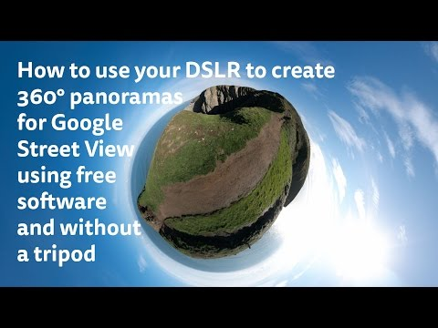 How to create 360° panoramas for Google Street View using free software, and without a tripod