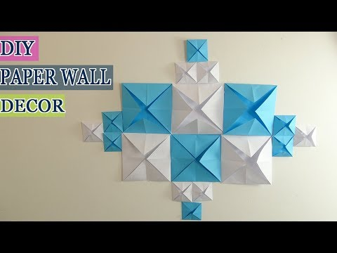 DIY Paper Wall Decor|Wall decor on a budget|How to Make Wall Decoration with Paper |  DIY Home Decor