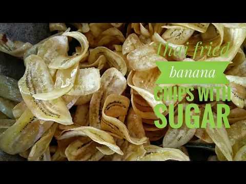Thai fried banana chips with sugar
