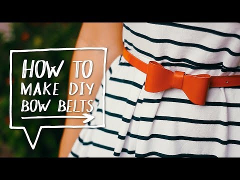 DIY BOW BELT | How to Customize Your Belts Into a Bow Tutorial | Life Hack ✨ Alejandra's Styles