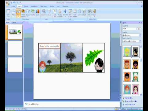Using PowerPoint to make comic books