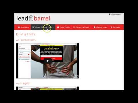 Leadbarrel Welcome Tab