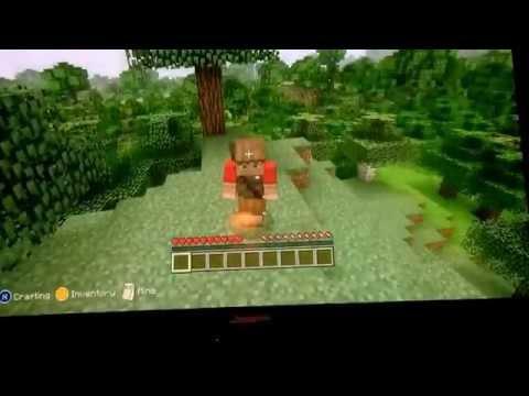 Minecraft Xbox 360 w/ spider zombie Ep.1 Survival series-Supply Gathering.