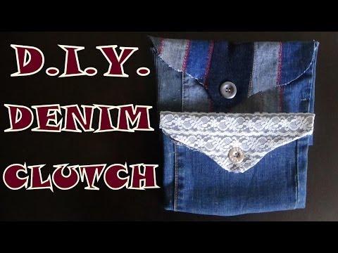 DIY Denim Clutch Purse
