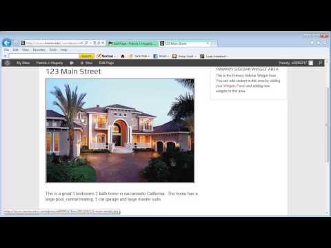 WordPress Web Page Layout Demonstration
