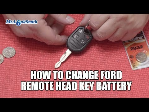 How to Change Ford Remote Head Key Battery | Mr. Locksmith Video