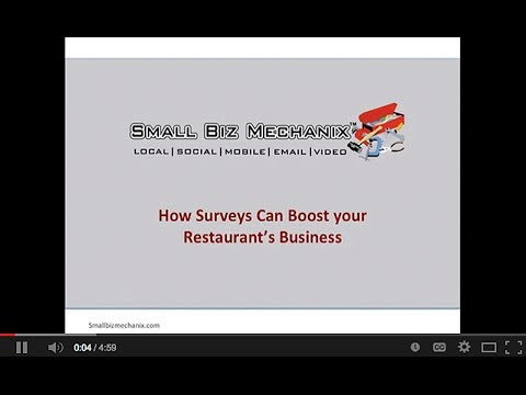 How Surveys can Boost Your Restaurant's Business