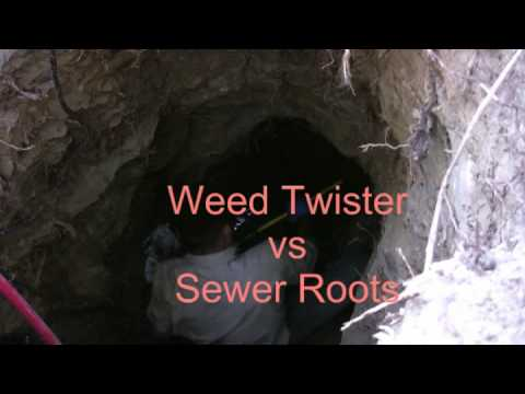 Sewer Rooter Weed Twister - Sewer Cleaning: How To Clear Roots From Drain Pipes