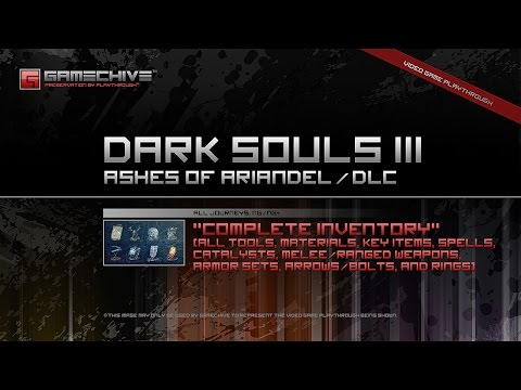 Dark Souls 3 DLC (PS4) Gamechive (Ashes of Ariandel: Complete Inventory & All Items) [NG/NG+]